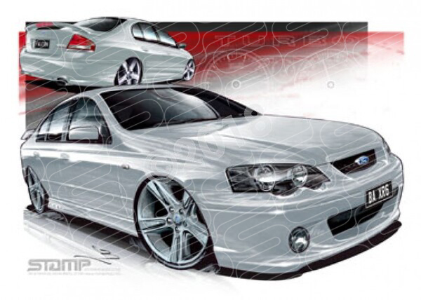 Ford XR6 BA XR6 BA XR6 TURBO LIGHTNING STRIKE A3 FRAMED PRINT (FT158A)