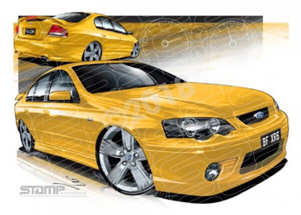 Ford XR6 BF XR6 BF XR6 RAPID A3 FRAMED PRINT (FT234N)