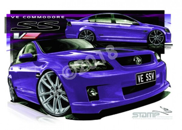 Holden Commodore VE SSV MORPHEOUS STRIPE & 20 A3 FRAMED PRINT (HC338C)