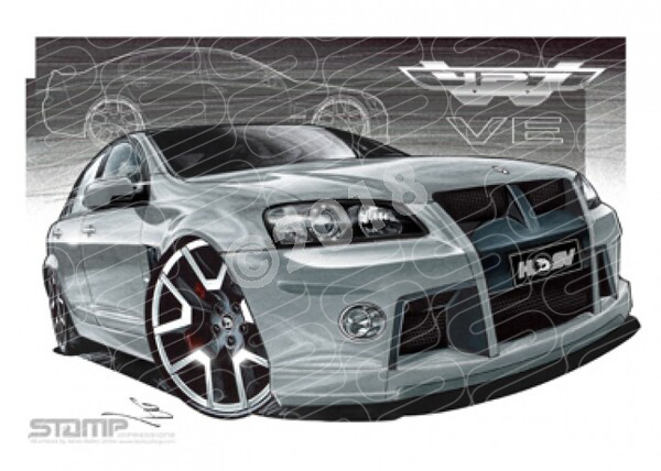 HSV Limited edition cars W427 LE CONCEPT PANORAMA SILVER A2 FRAMED PRINT (V143)