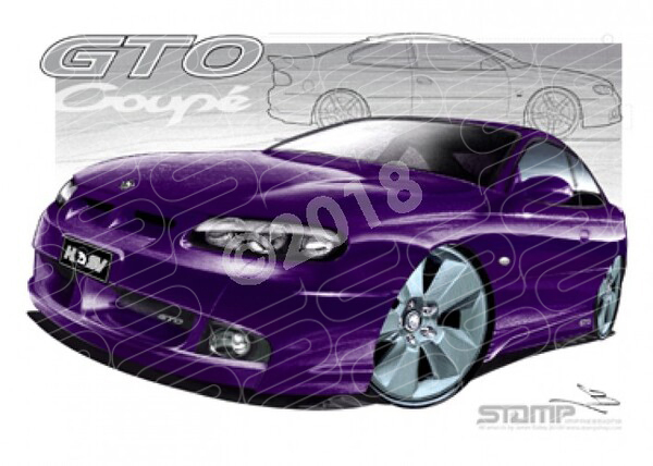 HSV Coupe GTO LE ULTRAVIOLET A1 A1 STRETCHED CANVAS (V164)