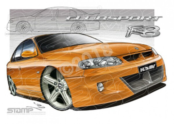 HSV Clubsport VT VT CLUB R8 TIGER MICA A1 STRETCHED CANVAS (V033)
