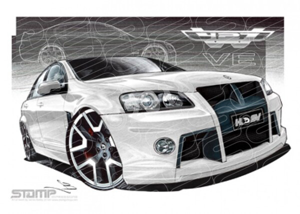 HSV Limited edition cars W427 LE HERON WHITE A1 STRETCHED CANVAS (V143B)