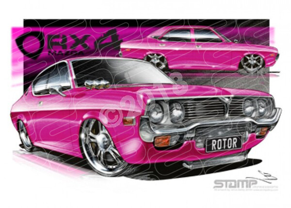 Imports Mazda RX4 PINK A1 STRETCHED CANVAS (S009E)