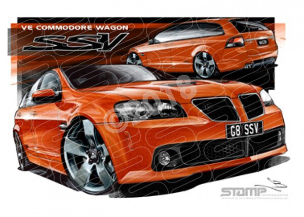 Commodore VE VE SSV G8 WAGON IGNITION A1 STRETCHED CANVAS (HC366)