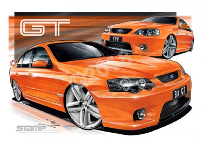 FPV BA GT BA GT BLOOD ORANGE A1 STRETCHED CANVAS (FV002X)