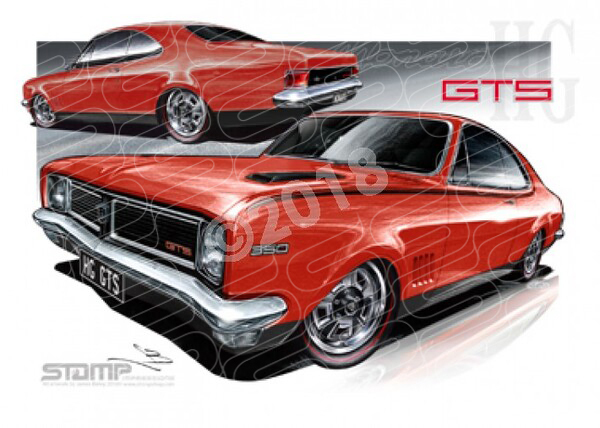 Monaro HG HG MONARO RALLY RED A1 STRETCHED CANVAS (HC63)