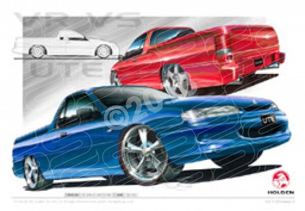 HOLDEN VR SS UTE COMPILATION A1 STRETCHED CANVAS (HC11)