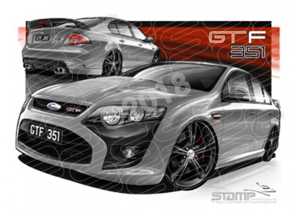FPV FG GTF 351 GTF FG SMOKE SILVER A1 STRETCHED CANVAS (FV349)