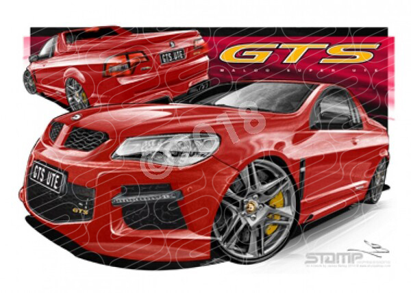 HSV MALOO F SERIES GTS STING RED A1 STRETCHED CANVAS (V501)