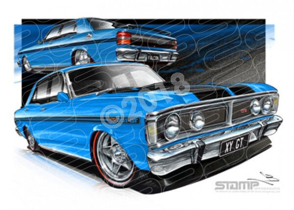 GT XY GT XY GT TRUE BLUE A1 STRETCHED CANVAS (FT073)